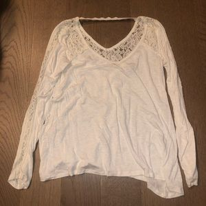 Abercrombie & Fitch White/Cream Lace Top, Small